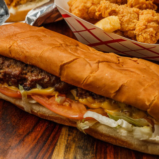 Cajun Burger Po-Boy
